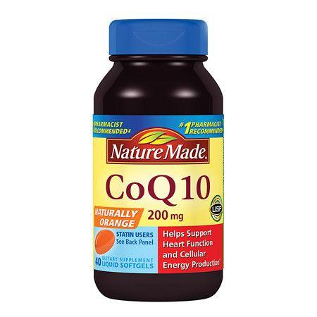 Nature Made CoQ10 200 mg Dietary Supplement Liquid Softgels - 40 ea