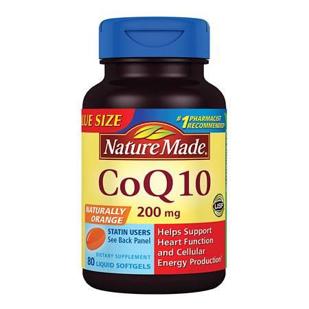Nature Made CoQ10 200 mg Dietary Supplement Liquid Softgels - 80 ea