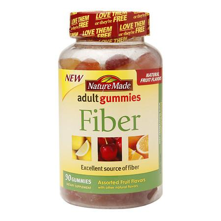 Nature Made Fiber Adult Gummies Assorted Fruit - 90 ea