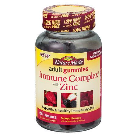 Nature Made Immune Complex with Zinc Adult Gummies Berry - 60 ea