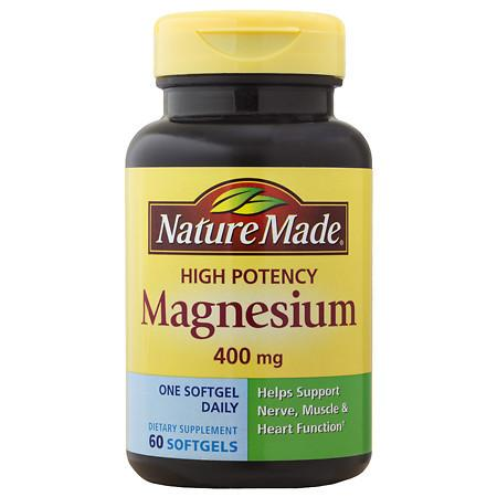 Nature Made Magnesium 400 mg Dietary Supplement Liquid Softgels - 60 ea