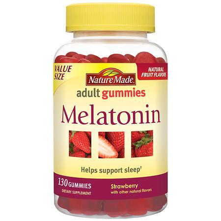 Nature Made Melatonin Adult Gummies Strawberry - 130 ea