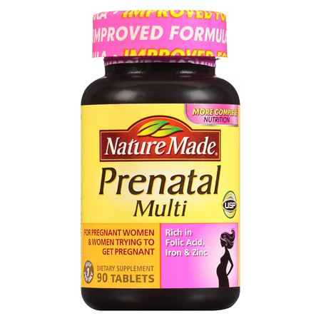 Nature Made Multi Prenatal Complete VitaminMineral Dietary Supplement Tablets - 90 ea