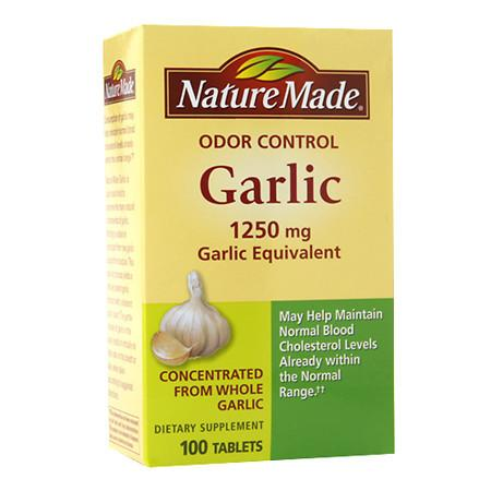 Nature Made Odor Control Garlic, 1250mg Garlic Equivalent, Tablets - 100 ea