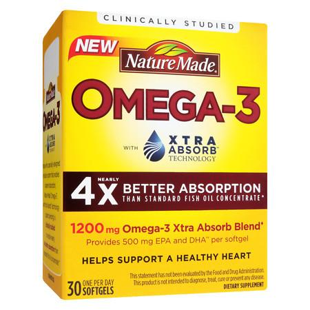 Nature Made Omega-3 With Xtra Absorb Softgels - 30 ea
