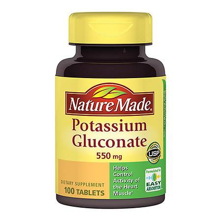 Nature Made Potassium Gluconate 550 mg Dietary Supplement Tablets - 100 ea