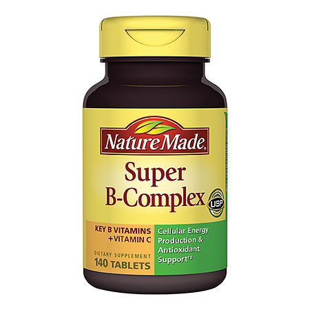 Nature Made Super B-Complex Dietary Supplement Tablets - 140 ea