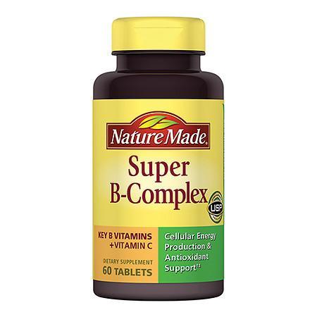 Nature Made Super B-Complex, Tablets - 60 ea