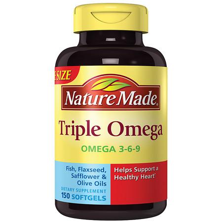 Nature Made Triple Omega Liquid Softgels Dietary Supplement - 150 ea