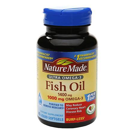 Nature Made Ultra Omega-3 Fish Oil 1400 mg Dietary Supplement Liquid Softgels - 45 ea