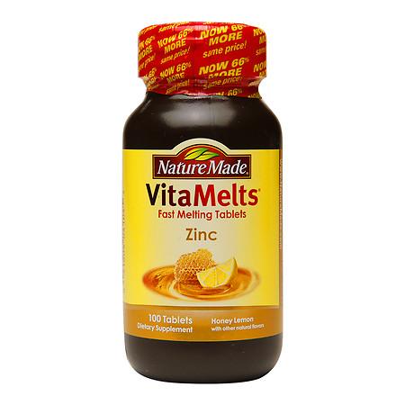 Nature Made VitaMelts Zinc 15mg, Tablets Honey Lemon - 100 ea