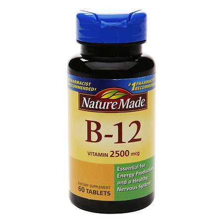 Nature Made Vitamin B-12 2500 mcg Dietary Supplement Tablets - 60 ea