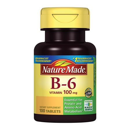 Nature Made Vitamin B-6 100 mg Dietary Supplement Tablets - 100 ea