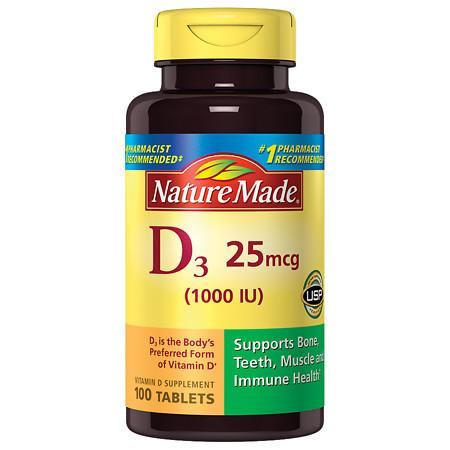 Nature Made Vitamin D 1000 I.U. - 100 ea