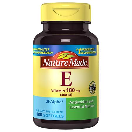 Nature Made Vitamin E 400 IU Dietary Supplement Liquid Softgels - 180 ea