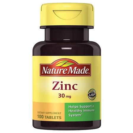 Nature Made Zinc 30 mg Dietary Supplement Tablets - 100 ea