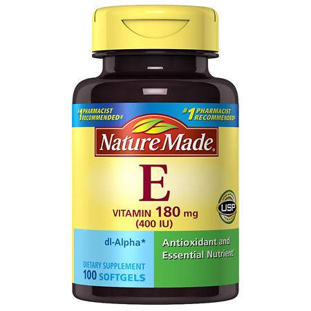 Nature Made dl-Alpha Vitamin E 400 IU - 100 ea