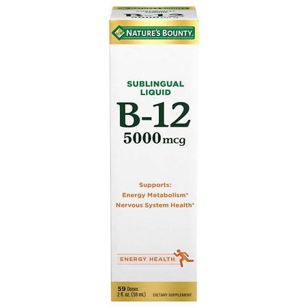 Nature's Bounty B-12 5000 mcg Dietary Supplement Liquid Berry - 2 fl oz