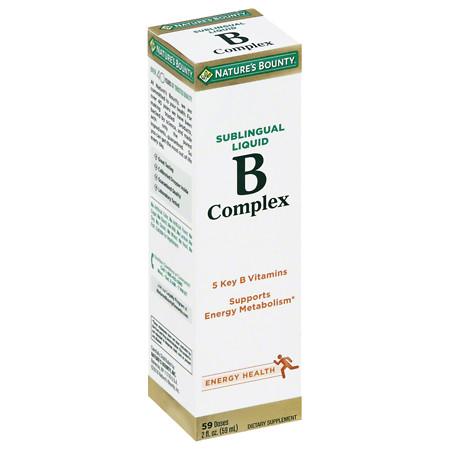 Nature's Bounty B Complex Sublingual Liquid Dietary Supplement - 2 fl oz