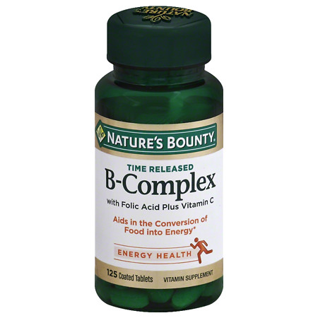 Nature's Bounty B-Complex plus Vitamin C Dietary Supplement Tablets - 125 ea