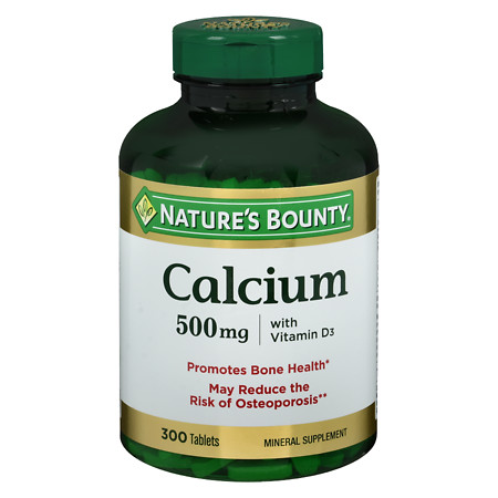 Nature's Bounty Calcium 500mg with Vitamin D3, Tablets - 300 ea