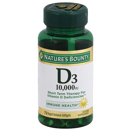 Nature's Bounty D3 10,000 IU Vitamin Supplement Softgels - 60 ea