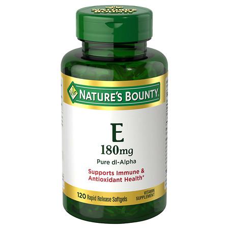 Nature's Bounty E-400 IU, Pure dl-Alpha, Softgels - 120 ea