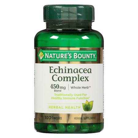 Nature's Bounty Echinacea & Elderberry Capsules - 100 ea