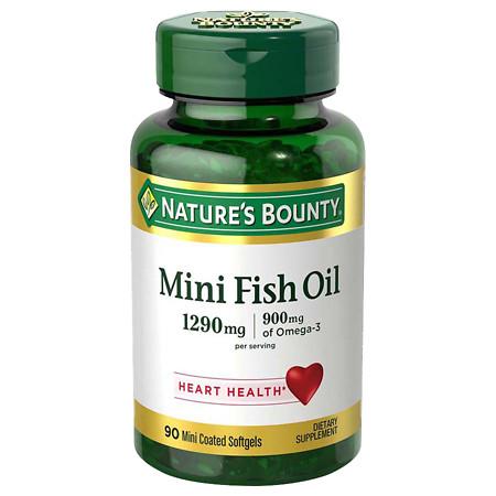 Nature's Bounty Fish Oil Dietary Supplement Mini Softgels - 90 ea