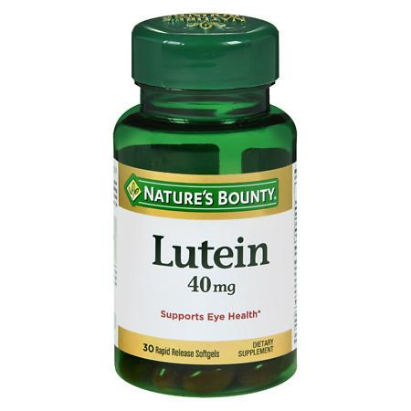Nature's Bounty Lutein 40 mg Dietary Supplement Softgels - 30 ea