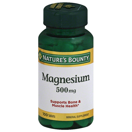 Nature's Bounty Magnesium 500 mg Dietary Supplement Tablets - 100 ea