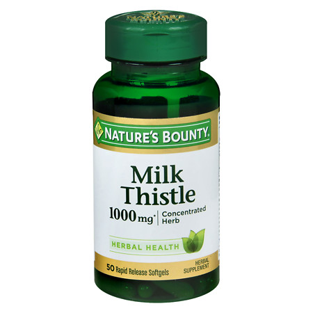 Nature's Bounty Milk Thistle 1000 mg Herbal Supplement Softgels - 50 ea