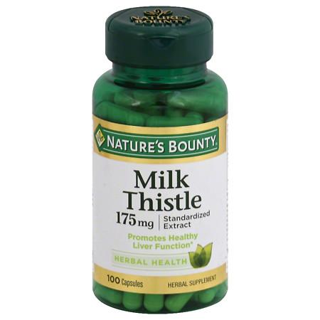 Nature's Bounty Milk Thistle Capsules - 100 ea