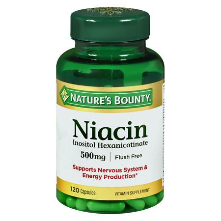 Nature's Bounty Niacin 500 mg Vitamin Supplement Capsules - 120 ea