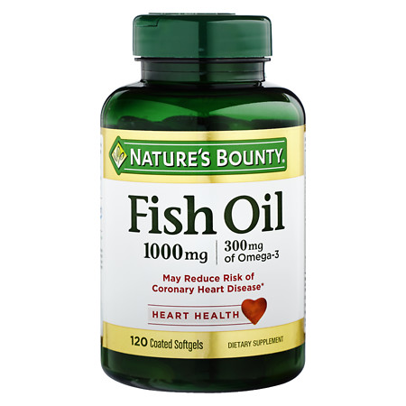 Nature's Bounty Odorless Fish Oil 1000 mg Dietary Supplement Softgels - 100 ea