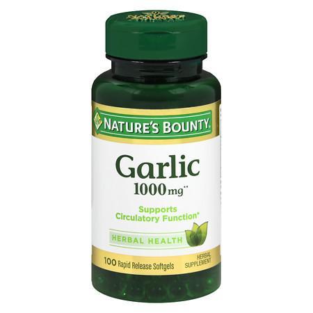 Nature's Bounty Odorless Garlic 1000 mg Dietary Supplement Softgels - 100 ea