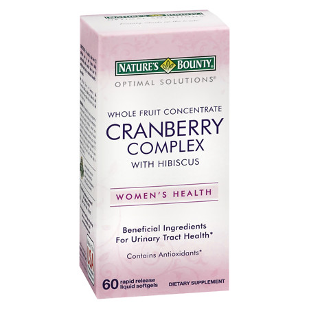 Nature's Bounty Optimal Solutions Cranberry with Hibiscus, Softgels - 60 ea