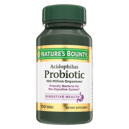 Nature's Bounty Probiotic Acidophilus Dietary Supplement Tablets - 100 ea
