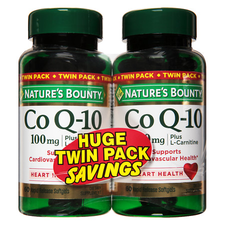 Nature's Bounty Q-Sorb CoQ10 100 mg Dietary Supplement Softgels Twinpack - 60 ea