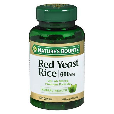 Nature's Bounty Red Yeast Rice 600 mg, Capsules - 120 ea