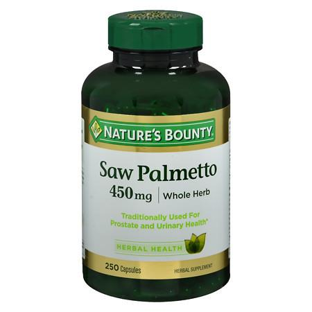 Nature's Bounty Saw Palmetto 450 mg Herbal Supplement Capsules - 250 ea