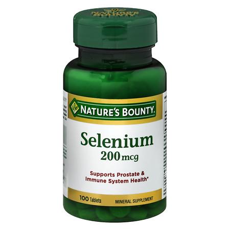 Nature's Bounty Selenium, 200 mcg Tablets. - 100 ea
