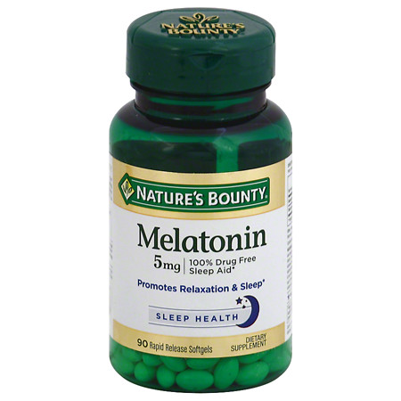 Nature's Bounty Super Strength Melatonin 5 mg Dietary Supplement Softgels - 90 ea