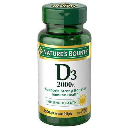 Nature's Bounty Super Strength Vitamin D3 2000 IU Dietary Supplement Softgels - 150 ea