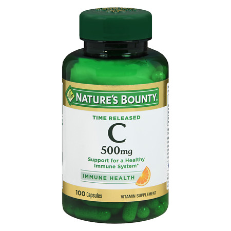 Nature's Bounty Time Release Vitamin C-500mg, Capsules - 100 ea