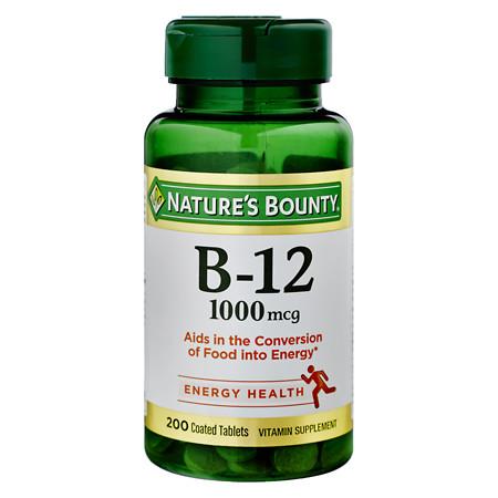 Nature's Bounty Vitamin B-12 1000mcg Tablets, Value Size - 200 ea