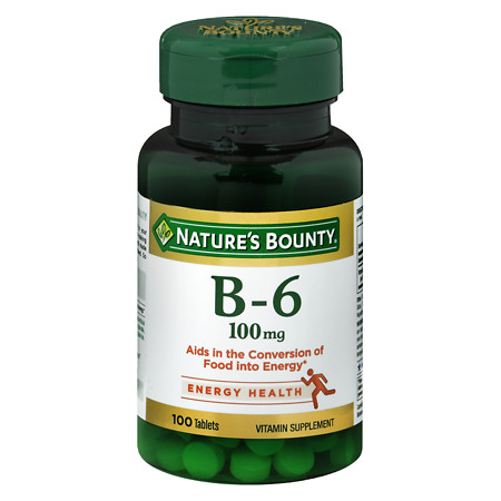 Nature's Bounty Vitamin B-6 100 mg, Tablets - 100 ea