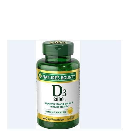 Nature's Bounty Vitamin D3-2000 IU, Softgels - 240 ea