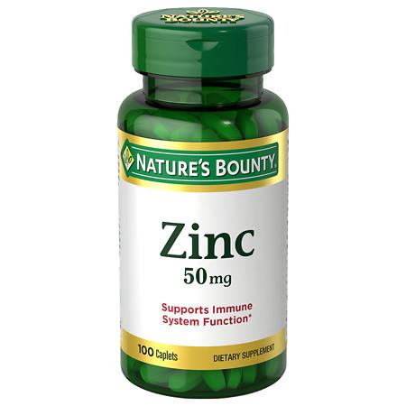Nature's Bounty Zinc 50 mg Caplets - 100 ea