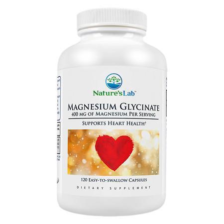 Nature's Lab Magnesium Glycinate, 400mg, Capsules - 120 ea
